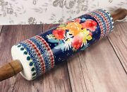 The Pioneer Woman Fiona Floral Stoneware Rolling Pin