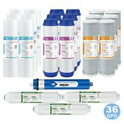 5-stage Whole House Reverse Osmosis System Water Filter Set W/ 36gpd Ro Membrane