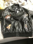 Limited Edition Sold Out Everywhere Space Jam 2 Graphic Moto Jacket Size L