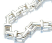 Auth And Co Bracelet T Narrow Chain Sterling Silver 925