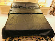 Genuine Leather Bed Sheet With Pillow Duvet Cover Single/double/king/super King
