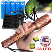 990000lm Led Flashlight 5 Mode Focus Zoom Light Torch Lamp + Battery + Charger