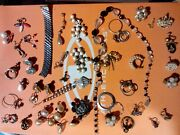 Jewelry, Large, Old-fashioned Jewelry. Necklaces, Earrings, Vintage And Real