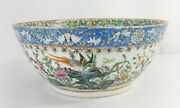 Antique Chinese Rose Medallion Peranakan Straits Porcelain Punch Bowl