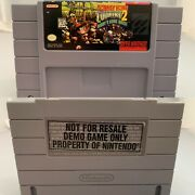 Snes Donkey Kong Country 2 Kiosk Game Not For Resale Demo Only Nintendo Sticker