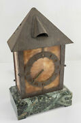 Antique American Arts And Crafts Mantel Clock Bailey Banks And Biddle Philadelphia