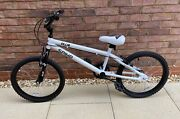Ollie Spike White Bmx Bike Bicycle 20 Wheels Suitable For 7-10 Year Old