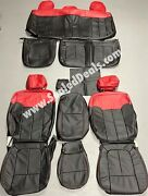 Ford F150 Xl Or Xlt, Supercrew Or Supercab Katzkin Leather Seat Covers Black Red