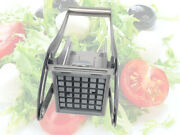 Potato Chipper Cutter Chopper Slicer French Stainless Steel Fry Chip + 2 Blades
