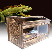 Reptile Pet Enclosure Cage Lizard Insect Snake Wooden Breeding Box 804040cm