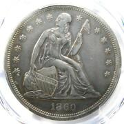 1860-o Seated Liberty Silver Dollar 1 Certified Pcgs Xf Detail Ef - Rare Coin