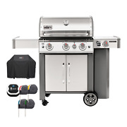Weber Genesis Ii S-345 3 Burner Gas Grill Premium Cover Included Outdoor Bbq New
