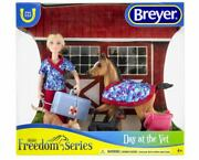New Breyer Day At The Vet Play Set Inc Vet, Foal, Cat And Dog Models