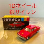 Tomica No.27 Toyota Crownfire Chief Car 1d Silver Siren Made In Japan