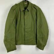 Vintage Swedish Military Issue Army Tactical Combat Jacket Coat Sweden C52 Lg
