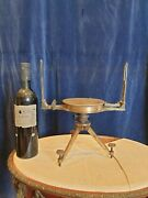 Antique Mining Compass On Brass Gilded Table Top Tripod Superb To Restore