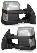 New Set Of Power Heated Turn Signal Towing Mirrors For 2003-2007 Ford Superduty