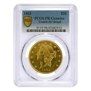1903 20 Liberty Head Double Eagle Proof Gold Coin Pcgs Pf Genuine Au Detail