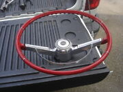 1966 Chevelle Malibu Ss Red Factory Steering Wheel And Horn Bar And Cap Gm 66 Chevy