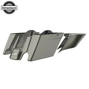 Industrial Gray Stretched Extend Saddlebags For 14+ Harley Flhr Flhxs Fltrx