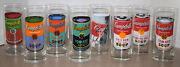 Andy Warhol Campbell's Soup Can Glass Lot - 8 Total Glasses, About 6 Tall, Used