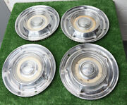 1957/58 Oldsmobile 14 Inch Vintage Hub Caps No Scuffs Fast + Free Shipping