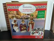 New Traditional 3 Piece Wise Men Set General Foam Blow Mold Christmas Nativity