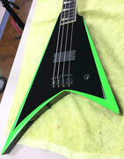 Esp Pointed Shape Electric Bass With Soft Case Safe Shipping From Japan