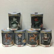 Rudolph And The Island Of Misfit Toys Collectible Ornaments, Lot Of 6 Yr. 2000