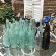 Nice Collection 25 Antique Embossed Pre Prohibition Baltimore Md Beer Bottles