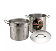 Winco Ssdb-8s 8 Qt Master Cook Steamer Pasta Cooker W/ Cover Stainless