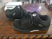 Dvs Durham Skateboard Shoes Black With White Logo. Size 9 Men Discontinued Clean