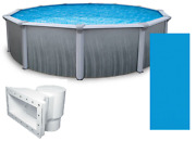 Martinique 24and039 X 52 Round Above Ground Swimming Pool And Liner