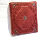 Album For Coins, Leather Cover, 20 Double-sided Pages, Coins Collection Storage