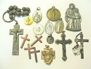 Gold Filled Sterling Silver Religious Jewelry Medal Lot 77 Grams