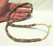 Old African Trade Bead Necklace Striped Glass 24 2
