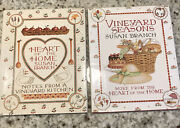 Susan Branch Lot Of 2 Cook Books Vineyard Seasons And Heart Of The Home