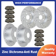 Fit For Toyota Camry Avalon Lexus Es350 Front Rear Drilled Brake Rotors And Pads