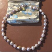 Large Baroque Fresh Water Pearls By Honora 10-13mm 18 Inches. Sterling Silver