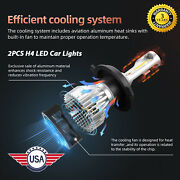 H4 Led Car Chip Suvs 6000k White Light Ip68 Waterproof All In One Style Durable