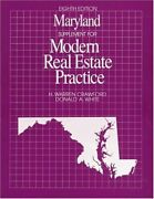 Maryland Supplement For Modern Real Estate Practice By H. Warren Crawford Vg