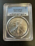 2019 Silver Eagle Pcgs Ms-70 - Uncirculated - Silver Ase - Certified Slab - 1