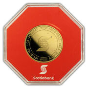 1 Oz Gold Round - Scotiabank Valcambi Suisse In Assay