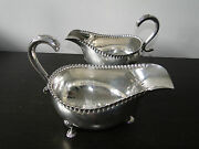 Pair Of Large Antique Old Sheffield Plate Sauce Boats By Richard Morton C.1765