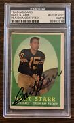 1958 Topps 66 Bart Starr Packers 2nd Card Autographed Signed Psa/dna