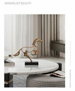 Three Dimensional Animal Sculpture Art Abstract Hollow Metal Horse Modern Crafts