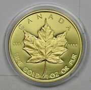 Canada 1989 Proof Maple 50 Dollars Gold 1oz Gold In Mint Capsule Gl0149 Combine