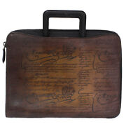 Berluti Briefcase Calligraphy 2017 Venetian Leather Brown W/storage Bag Auth