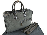 Berluti Briefcase 2way Deux Jours Shearling Very Rare W/strap Storage Bag Auth