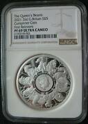 Great Britain Uk 5 Pounds 2021 Silver 2oz Coin Queen's Beasts Completer Ngc Pf69